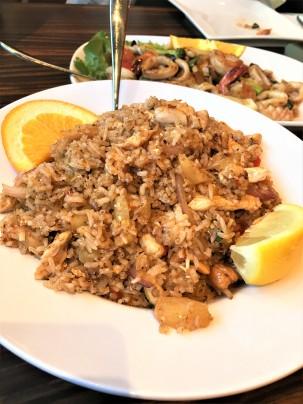 Thai Fried Chicken + Shrimp Rice